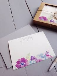 watercolor notecards personalized stationery set of 20 floral watercolor notecards