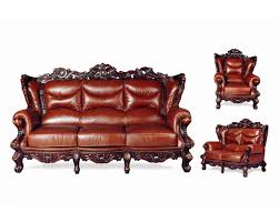 Brown Leather Loveseat French Provincial Brown Leather Sofa Loveseat Chair Set