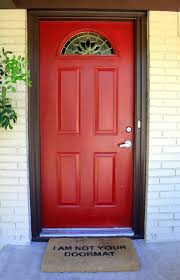 front doors new color for my front door sherwin william bay red
