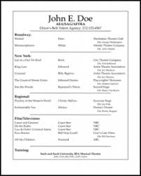 Resume Format For Teens Sensational Resume Templates For Teens 9 Free Acting Resume