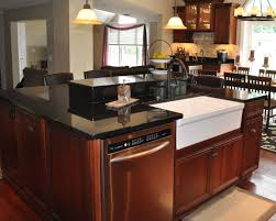 kitchen islands with sink and dishwasher kitchen island with dishwasher and sink white glass tile