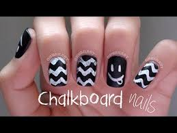 back to smiley face chalkboard nails youtube
