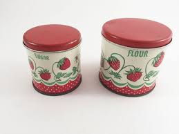 vintage metal kitchen canisters vintage metal kitchen canisters play set tin strawberry