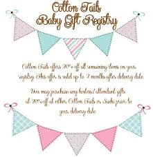 baby registry baby gift registry cotton tails