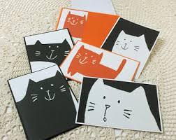black cat cards etsy