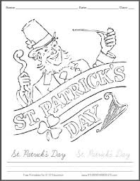 banner coloring pages free printable st patrick u0027s day banner coloring sheet student