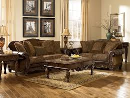 MauricioOld World Bonded Leather  Fabric Sofa Couch Set Living - Microfiber living room sets
