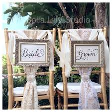 and groom chair signs and groom or mr and mrs wedding signs mr and mrs reception