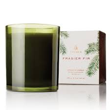 thymes candles thymes frasier fir green glass candle soul decor