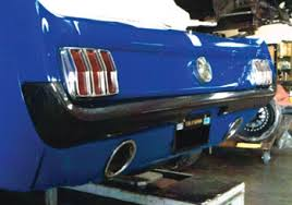 1965 mustang parts 1965 1966 mustang snug fit rear carbonfiber bumper mustangs plus