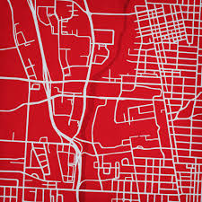 Map Ohio State by Ohio State University Campus Map Art City Prints