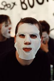 this is actually what guys look like when they sheet mask without