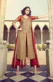 design of jacket suit straight punjabi suits with jacket online buy beige punjabi silk suit