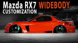mazda rx7 slammed midnight club la mazda rx7 widebody customization youtube