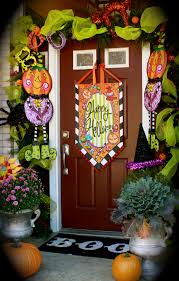 modern design halloween front door decorations shining the best 35