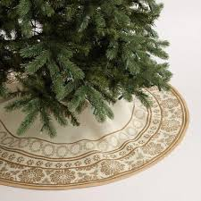 gold tree skirt gold metallic snowflake jute tree skirt world market