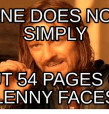 Lenny Meme - ne does no simply t 54 pages enny faces lenny face angry meme on me me