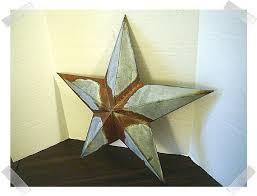 metal galvanized rusty star wall decoration 12