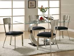 Interesting Modern Glass Dining Room Sets Fancy He  Full - Contemporary glass dining room tables