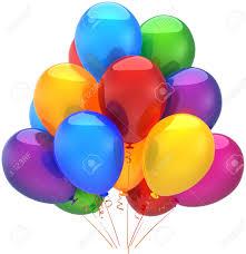 birthday balloons for men happy birthday balloons party decoration shiny multicolored stock