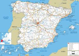 maps of spain detailed clear large road map of spain ezilon maps