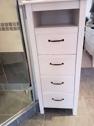 ikea brusali tall chest of 4 drawers with gap in white in earls