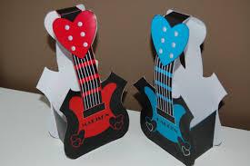 guitar valentine u0027s day favor bag template printable
