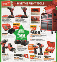 home depot milwaukee tool black friday sale home depot black friday 2015 ad scan