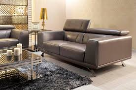 Modern Leather Sofa Modern Metallic Grey Leather Sofa Set Leather Sofas