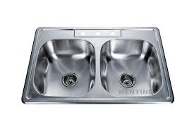 Round Kitchen Sink by Fregadero Stainless Steel Double Bowl Round Kitchen Sink With Overflow