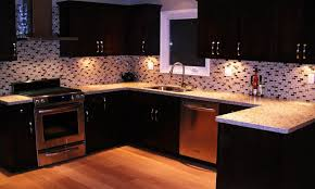 Kitchen Mosaic Tile Backsplash Ideas popular kitchen backsplash ideas with dark cabinet of kitchen