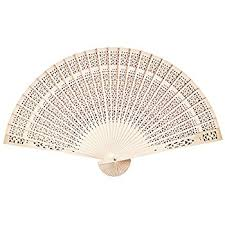 held folding fans sandalwood scented wooden openwork personal