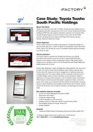 toyota website case study toyota tsusho south pacific holdings by ifactory