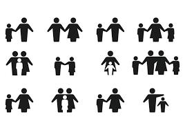 simple silhouette family icon vectors free vector