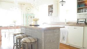 bench for kitchen island faux tin ceiling tiles kitchen island white lace cottage