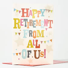 retirement cards retirement card from us all only 99p