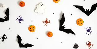 cute cartoon bat and ghost happy halloween card flat design free
