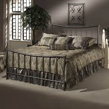 Pewter Bedroom Furniture Shop Hillsdale Furniture Edgewood Magnesium Pewter Bed At Lowes Com