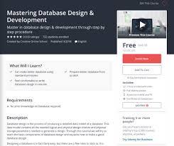 database design tutorial videos comidoc mastering database design development