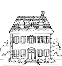 minecraft house coloring pages case house