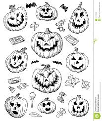 image result for hand drawn halloween jack o lanterns resin