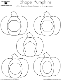 pumpkin shapes matching a to z teacher stuff printable pages and