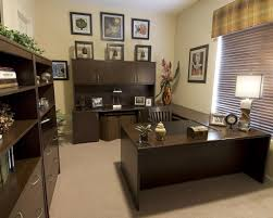 Small Office Decoration Homey Small Office With Trendy Black Wall Cabinet Ideas And