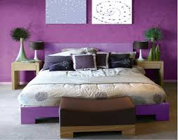 d馗oration chambre peinture murale associer la couleur violet dans la chambre le salon la cuisine