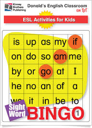 esl games easy sight word bingo 1 sight word bingo bingo set
