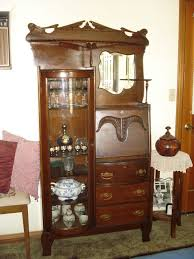 secretary desk with hutch and tall cabinets on runner rug 728x971 jpg