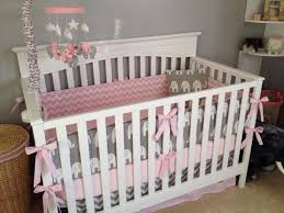 Pink Gray Crib Bedding Pink Gray Crib Bedding Modern Bedding Bed Linen