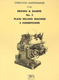 manual clausing kondia mill brown u0026 sharpe no 2 plain horizontal milling machine operation