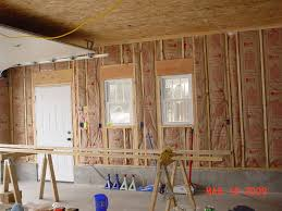 garage planning osb ceiling paint each section prime with kilz before