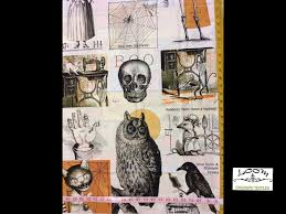 sew scary steampunk skull raven cat halloween cotton quilting